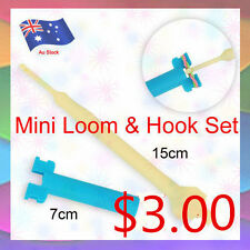 New Mini Loom And Hook Set For Rainbow Loom Bands/Rubber Bands Loom Tool