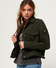 Superdry Womens Military Crop Jacket Size 6