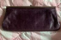 Preowned Hobo International Clutch Purse Wallet Leather Purple Lock