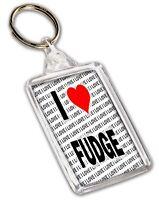 I Love Fudge Keyring - Gift - Birthday - Christmas - Stocking Filler