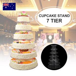 7Tier Acrylic Round Cupcake Stand Cake Plate Tree Birthday Wedding Party