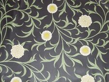 WILLIAM MORRIS CURTAIN FABRIC Scroll 3.05 METRES BLACK/THYME ARCHIVE PRINTS COLL