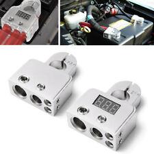 2x 12V-24V Car Battery Terminal Post 0 4 8 GA AWG Gauge Positive Negative Port