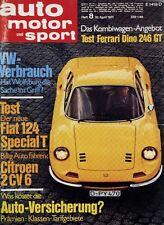 Poster Auto Motor und Sport 8/71 10.4.71 1971 Replica Ferrari Dino 246 GT Bild