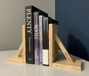 Pair of Handmade rustic, wooden bookends, reclaimed wood, farmhouse bookends