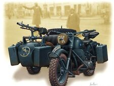 PLASTIC MODEL KIT MASTER BOX 1/35 WWII GERMAN MOTORCYCLE AND SIDECAR # 3528