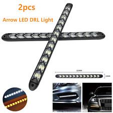 2*Car Flexible Daytime Running Lamp Flowing Light Arrow Strip Turn Signal Lamps
