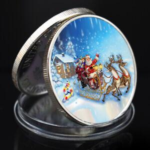 Christmas Souvenir Silver Coin Santa Claus Commemorative Metal Coin Child Gift