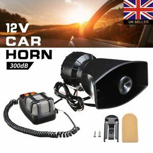 300DB 7Tone Sound Car Vehicle Police Siren Horn Megaphone PA Mic Speaker System