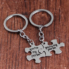 2pcs Puzzle Key Ring Chain Keychain Lover Couples Keyring Gift High Sales Cute