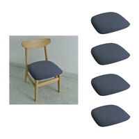 4pcs Chair Seat / Cushion Cover w/ Buckle for Wedding /Dining/ Kitchen Grey