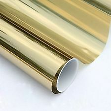 "20% GOLD REFLECTIVE 15""x5' PROLINE WINDOW FILM COLOR TINT POLAIZADO TINTING"