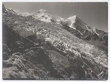 PHOTO ANCIENNE Glacier Montagnes des Bossons Pierre Pointue Alpes Mont Blanc
