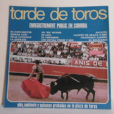 "33T TARDE DE TOROS Disque LP 12"" BANDA TAURINA Enr. Public Corrida MUSIDISC 1023"