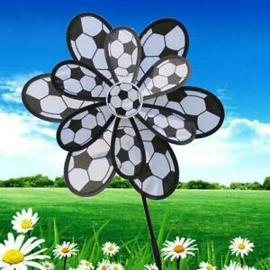 Kids Double Layer Football Windmill Wind Spinner Pinwheel Home Garden Yard Decor