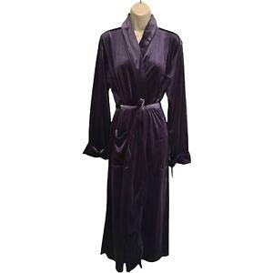 Lauren Ralph Lauren Purple Velvet Crown Crest RL Logo Embroidered Robe XL NWT