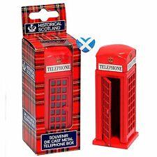 Scotland Die Cast Red Telephone Booth UK Souvenir Gift 8cm Diorama Train Set
