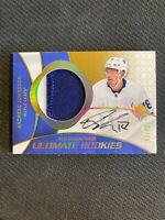 2018-19 UPPER DECK ULTIMATE ANDREAS JOHNSSON ROOKIE AUTO PATCH #ed 9/49