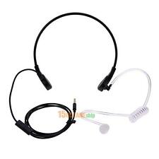 3.5mm Throat MIC Headset Covert Acoustic Tube Earpiece for iPhone Android Phone
