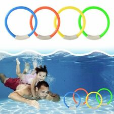 4pcs Diving Rings Children Swimming Pool Underwater Games Kids Water Play Toys a