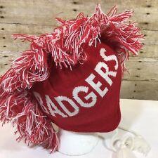 Wisconsin Badgers Youth Winter Knit & Fleece Mohawk Ski Hat Osfm '47 Brand