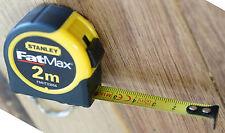 Stanley Fat Max 2 Metre Metric Key Ring Mini Tape Measure FMHT33856 2M Free Post