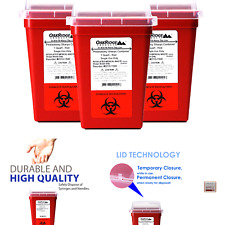 Oakridge Products 1 Quart Size Pack Of 3 Sharps Disposal Container Approv