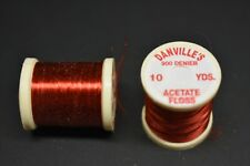 1 Spool, # 56  RED  Danville's Acetate Floss, 900 Denier, 10 yards Fly Tying