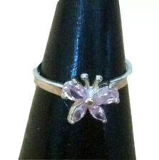 925 SILVER - BUTTERFLY RING X 26 - PINK