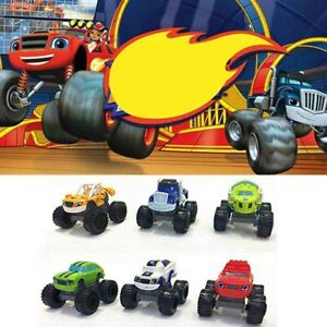 6X Blaze and the Monster Toy Machines Vehicles Kit Racer Cars Trucks For Kid Set