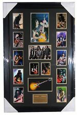 "Slash ""GUNS N ROSES"" Signed Photo with Replica Mini Guitar"