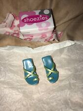 2000 Hasbro Shoezies Pair Of Blue /green Scandal Heels With Box