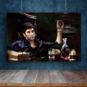 Scarface Tony Montana Wine Landscape Paper Poster No Frame