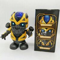 Dancing Dance Bumblebee Transformers Toy Figure Robot w/LED Music & Flashlight