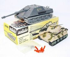 Solido + Corgi Toys 1:50 WWII German JAGDPANTHER & TIGER I TANK Set MIB`73 RARE!