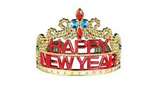 Celebrate Happy New Year Party Year's Eve Gold Tiara Headband Costume Accessory