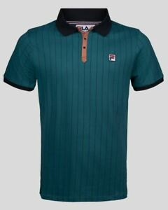 Fila Vintage BB1 Borg Polo in Harbour Turquoise Green