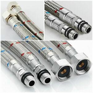 Basin Hose Pipe Flexible Tap Connectors Flexi Tails Monobloc Mixer Tap Pipes
