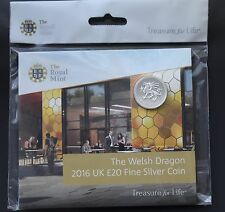 2016 The Welsh Dragon UK £20 Fine Silver Coin Exclusive to Royal Mint Experience