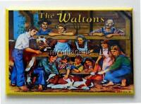 "THE WALTONS Metal LUNCHBOX   2"" x 3"" Fridge MAGNET ART"