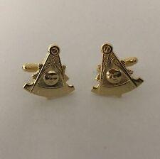 Freemason Masonic Past Master Cufflinks In Gold Tone