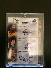 2009-10 SP Signature Edition 3Stars #3SHHR Ricky Rubio/Henderson/James Harden/99