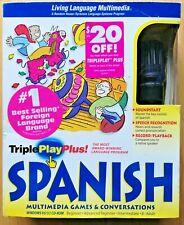 Triple Play Plus Spanish Living Language Series Pc Windows 95 Software w/ Mic