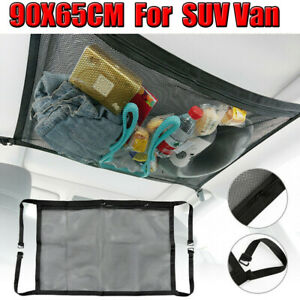 Car Roof Ceiling Cargo Net Mesh Storage Bag Pouch Pockets For SUV Van Travel NEW