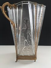 Val St lambert art deco glass Baseball Keeper Olympic vase - 1936  History