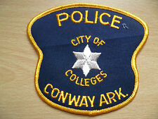 Patches: CITY OF COLLEGES, CONWAY ARK POLICE PATCH (New, approx.4. x 4 inch)
