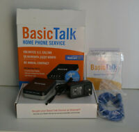 Basic Talk HT701 VoIP Home Phone Service Box - Mint Condition - Complete in Box