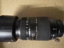 Tamron 70-300mm F4-5.6 LD DI Macro Zoom Lens For Canon EOS & F/R Lens Cap & Hood