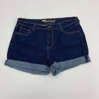 Old Navy The Sweetheart Jean Shorts Womens Size 6 Tall Blue Rolled