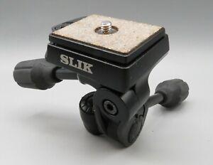 SLIK Pan Head SH-704E Pan Tilt Head with S6183 Quick Release Plate NEW